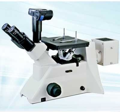 Trinocular Head Inverted Metallurgical Microscope With Digital Camera interface