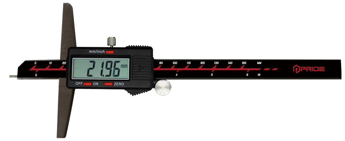 Digital Depth Gauge Measuring Calipers With Needle , Manual Power On / Off